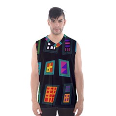 Abstract A Colorful Modern Illustration Men s Basketball Tank Top