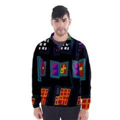 Abstract A Colorful Modern Illustration Wind Breaker (men)