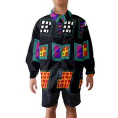 Abstract A Colorful Modern Illustration Wind Breaker (kids)