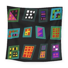 Abstract A Colorful Modern Illustration Square Tapestry (large)