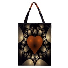 Fractal Of A Red Heart Surrounded By Beige Ball Classic Tote Bag