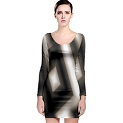 Abstract Hintergrund Wallpapers Long Sleeve Bodycon Dress