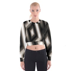 Abstract Hintergrund Wallpapers Women s Cropped Sweatshirt