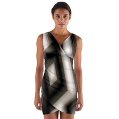 Abstract Hintergrund Wallpapers Wrap Front Bodycon Dress