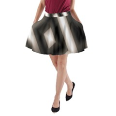 Abstract Hintergrund Wallpapers A-Line Pocket Skirt