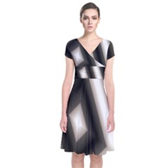 Abstract Hintergrund Wallpapers Short Sleeve Front Wrap Dress