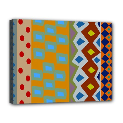 Abstract A Colorful Modern Illustration Canvas 14  X 11