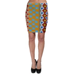 Abstract A Colorful Modern Illustration Bodycon Skirt