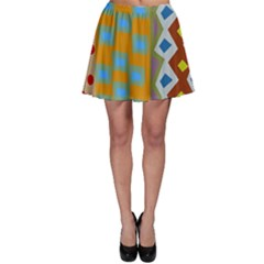 Abstract A Colorful Modern Illustration Skater Skirt