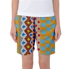 Abstract A Colorful Modern Illustration Women s Basketball Shorts