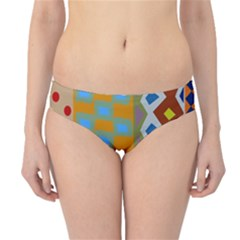 Abstract A Colorful Modern Illustration Hipster Bikini Bottoms