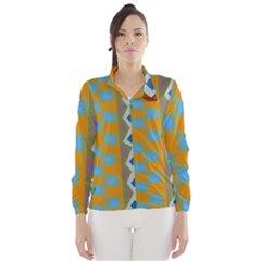 Abstract A Colorful Modern Illustration Wind Breaker (women)