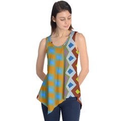 Abstract A Colorful Modern Illustration Sleeveless Tunic