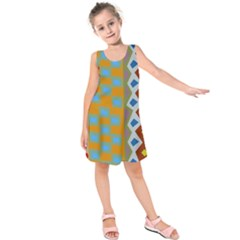 Abstract A Colorful Modern Illustration Kids  Sleeveless Dress