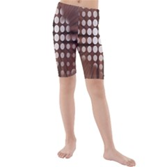 Technical Background With Circles And A Burst Of Color Kids  Mid Length Swim Shorts