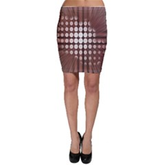 Technical Background With Circles And A Burst Of Color Bodycon Skirt