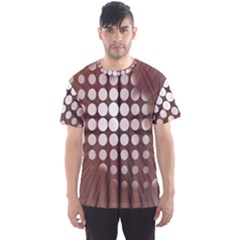 Technical Background With Circles And A Burst Of Color Men s Sport Mesh Tee
