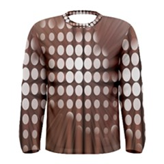 Technical Background With Circles And A Burst Of Color Men s Long Sleeve Tee