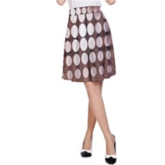 Technical Background With Circles And A Burst Of Color A-Line Skirt
