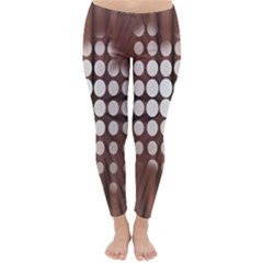 Technical Background With Circles And A Burst Of Color Classic Winter Leggings