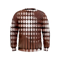 Technical Background With Circles And A Burst Of Color Kids  Sweatshirt