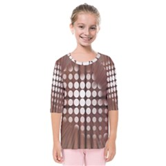 Technical Background With Circles And A Burst Of Color Kids  Quarter Sleeve Raglan Tee