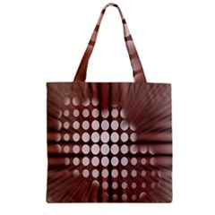 Technical Background With Circles And A Burst Of Color Zipper Grocery Tote Bag