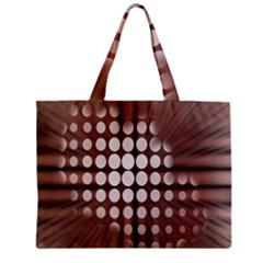 Technical Background With Circles And A Burst Of Color Zipper Mini Tote Bag