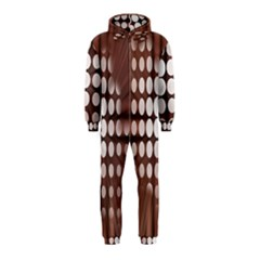 Technical Background With Circles And A Burst Of Color Hooded Jumpsuit (Kids)