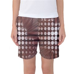 Technical Background With Circles And A Burst Of Color Women s Basketball Shorts