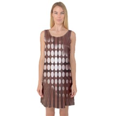 Technical Background With Circles And A Burst Of Color Sleeveless Satin Nightdress