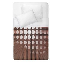 Technical Background With Circles And A Burst Of Color Duvet Cover (single Size)