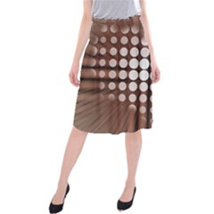 Technical Background With Circles And A Burst Of Color Midi Beach Skirt