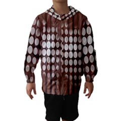 Technical Background With Circles And A Burst Of Color Hooded Wind Breaker (kids)