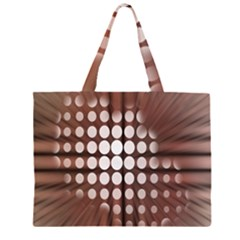 Technical Background With Circles And A Burst Of Color Large Tote Bag