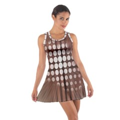 Technical Background With Circles And A Burst Of Color Cotton Racerback Dress