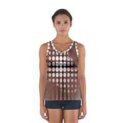 Technical Background With Circles And A Burst Of Color Women s Sport Tank Top