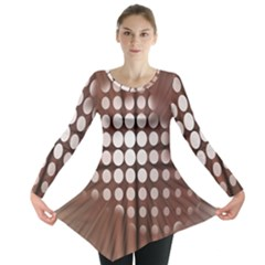 Technical Background With Circles And A Burst Of Color Long Sleeve Tunic