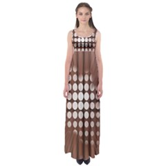 Technical Background With Circles And A Burst Of Color Empire Waist Maxi Dress