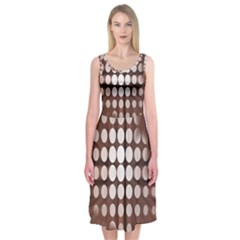 Technical Background With Circles And A Burst Of Color Midi Sleeveless Dress