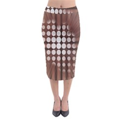 Technical Background With Circles And A Burst Of Color Midi Pencil Skirt