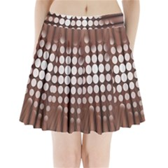 Technical Background With Circles And A Burst Of Color Pleated Mini Skirt