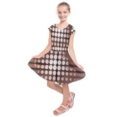 Technical Background With Circles And A Burst Of Color Kids  Short Sleeve Dress
