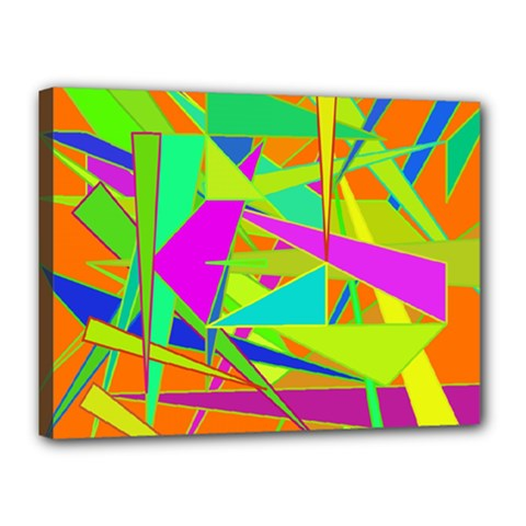 Background With Colorful Triangles Canvas 16  X 12