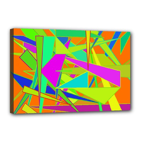 Background With Colorful Triangles Canvas 18  X 12