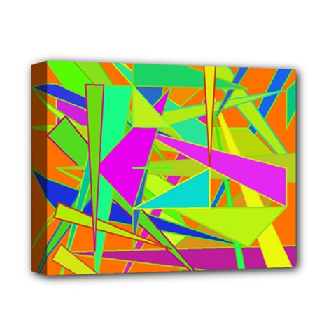 Background With Colorful Triangles Deluxe Canvas 14  x 11
