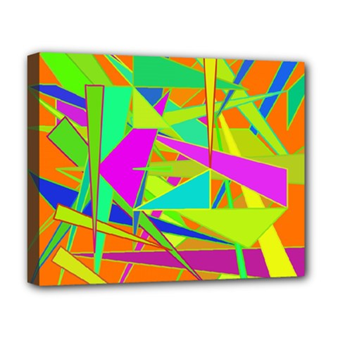 Background With Colorful Triangles Deluxe Canvas 20  x 16