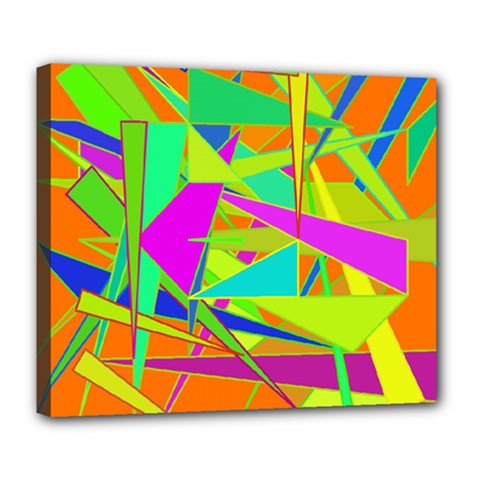 Background With Colorful Triangles Deluxe Canvas 24  X 20