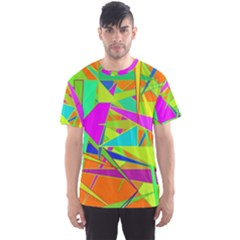 Background With Colorful Triangles Men s Sport Mesh Tee