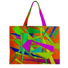 Background With Colorful Triangles Mini Tote Bag